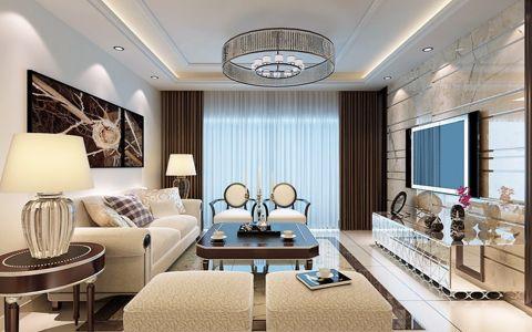 金地意境现代简约风格家庭三居装修图片
