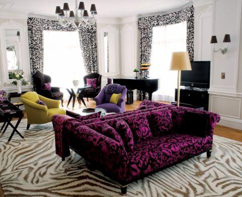 后现代个性二居室装修实景图