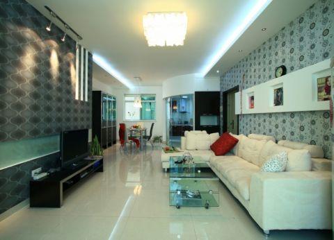 大名城现代简约风格三居室装修图片