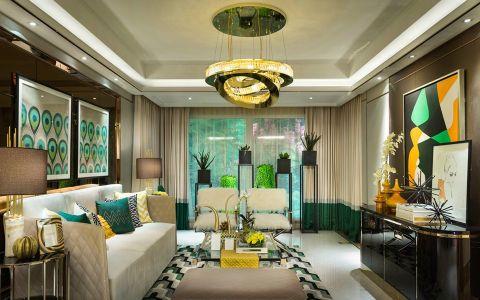 时尚新古典风格三居室装修案例图片