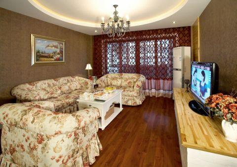 欧式田园风格二居室家装案例图片
