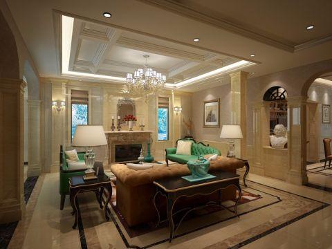 泰弘花园欧式风格别墅室内装修设计图