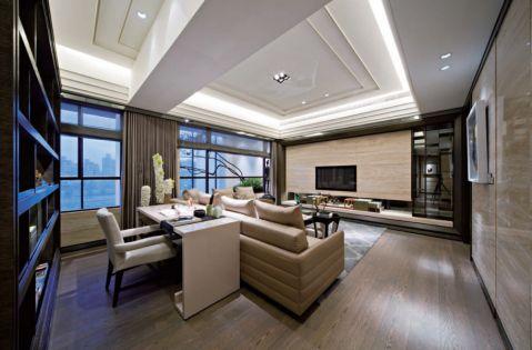 现代风格家庭两居装修案例实景图