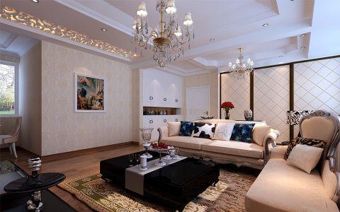 家天下三室两厅简欧风格装修效果图