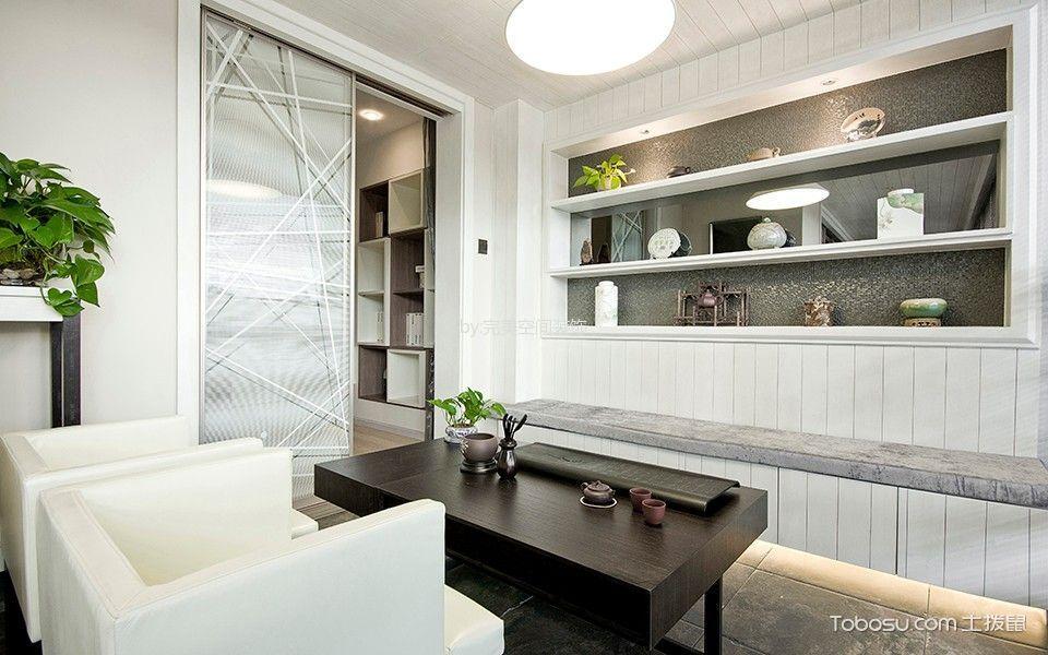 书房白色沙发现代简约风格装潢设计图片
