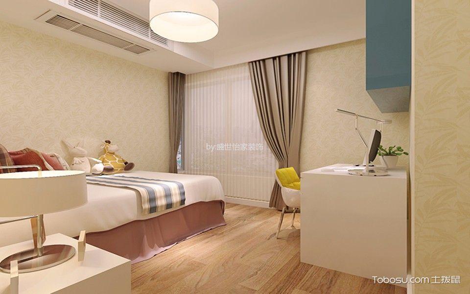 卧室黄色地板砖现代简约风格装饰设计图片