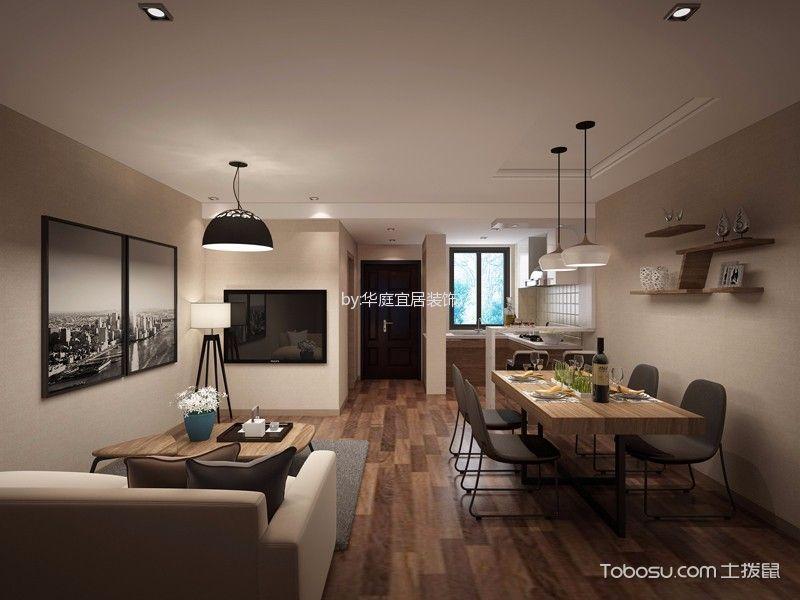 周庄万盛园简约风格公寓装修效果图