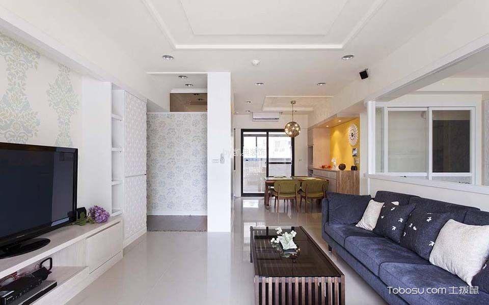 盘锦花园现代简约两居室装修图