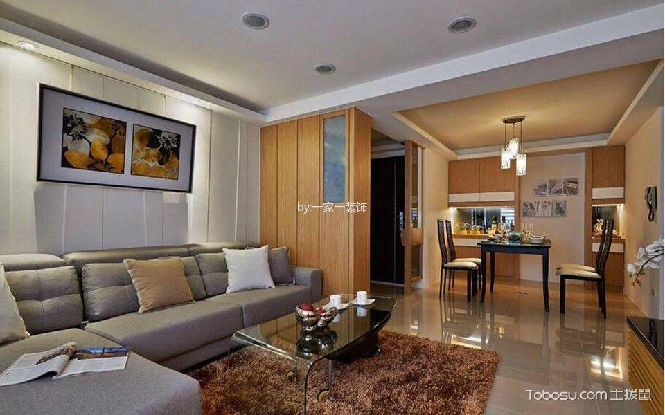 客厅灰色沙发简单风格效果图