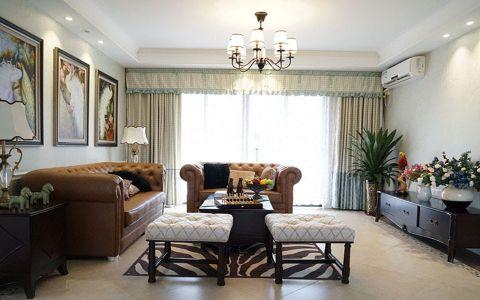 混搭美式风格两居室实景家装图