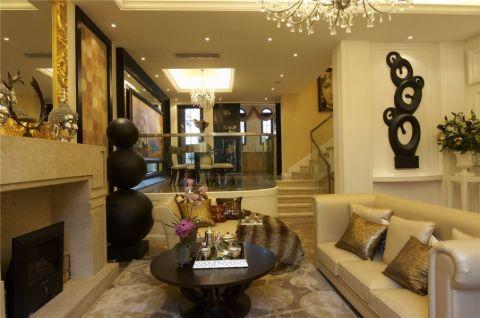 现代新古典风格复式家居装修图