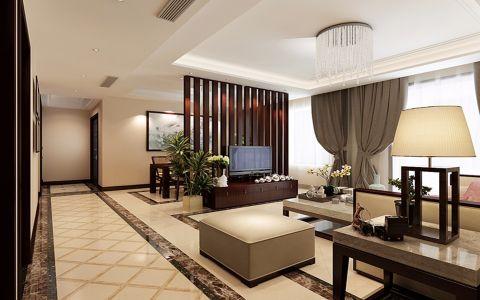新中式风格三居室装修设计图