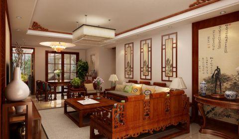华清园中式古典风格家居装修效果图