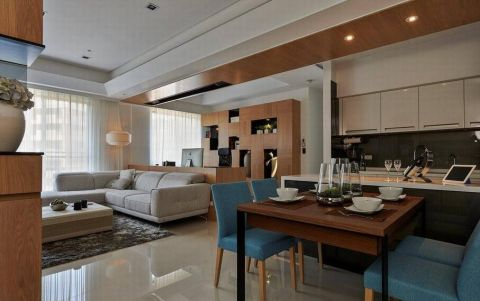 现代简约三居室样板间装修图