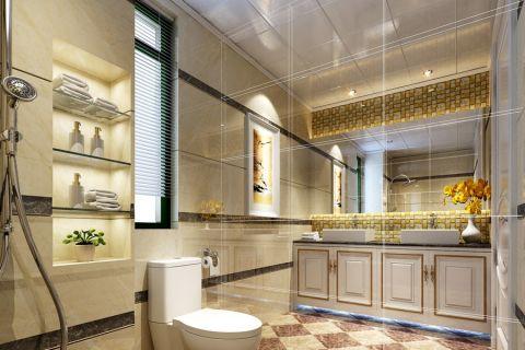 金域蓝湾简欧风格三居室设计案例效果图