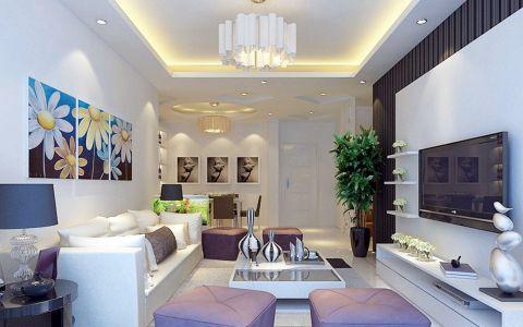 上品十六清新现代简约风格两居室效果图