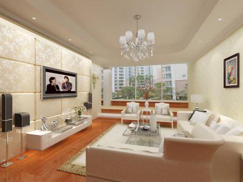 简欧风格舒适三居室设计图片