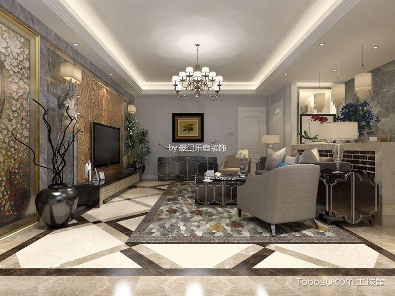 混搭古典风格三居室装修效果图