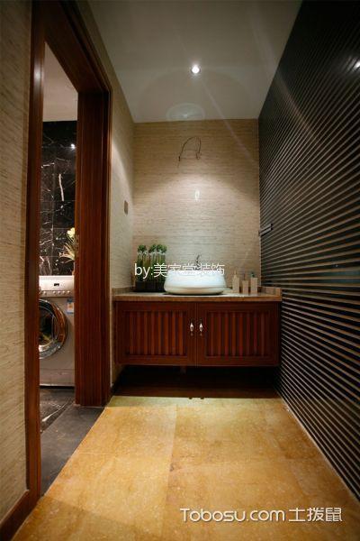 卫生间黑色背景墙东南亚风格装修设计图片