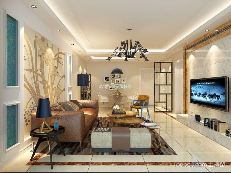 时尚简约风现代三居室装修效果图