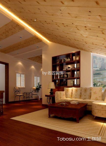 书房黄色背景墙东南亚风格装饰设计图片