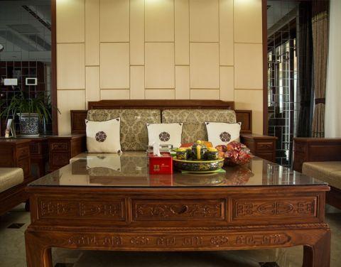 星河丹堤中式风格二居室的装修效果图