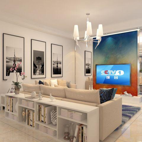 2019现代简约90平米效果图 2019现代简约套房设计图片