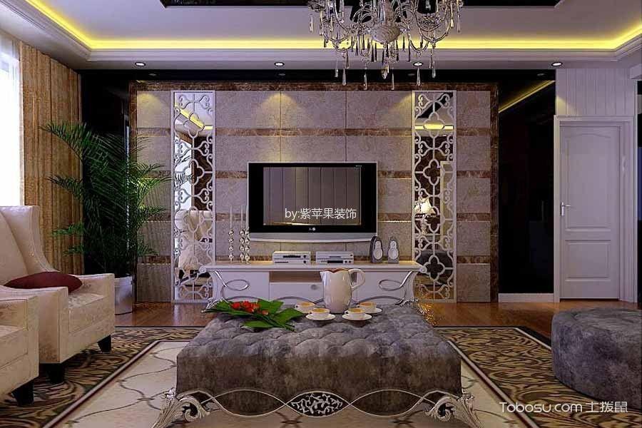 龙谭公馆180平米欧式风格四居室装修效果图