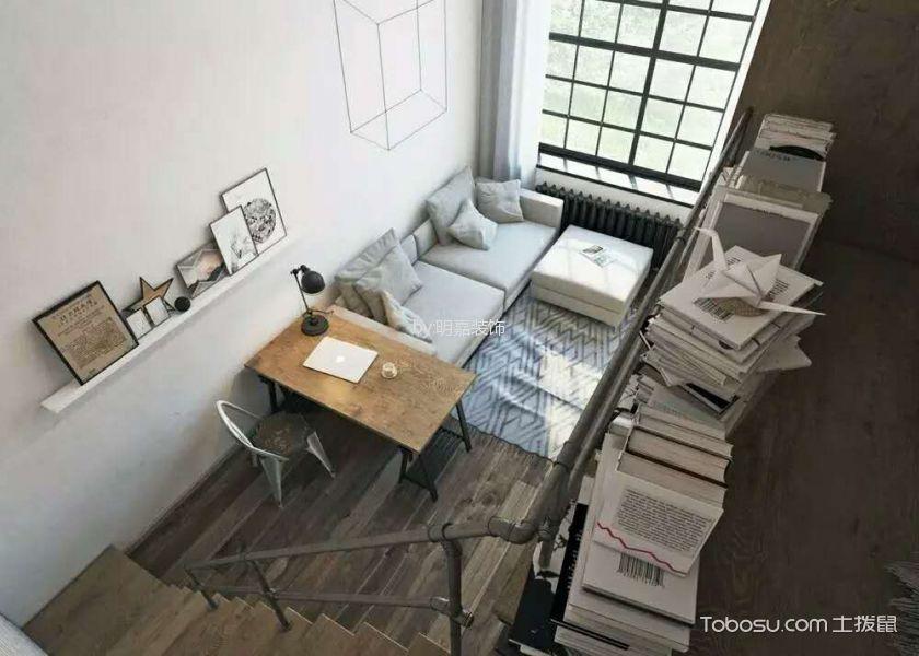 客厅_北京某小区后现代小复式家居装修效果图