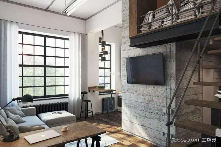 客厅 背景墙_北京某小区后现代小复式家居装修效果图