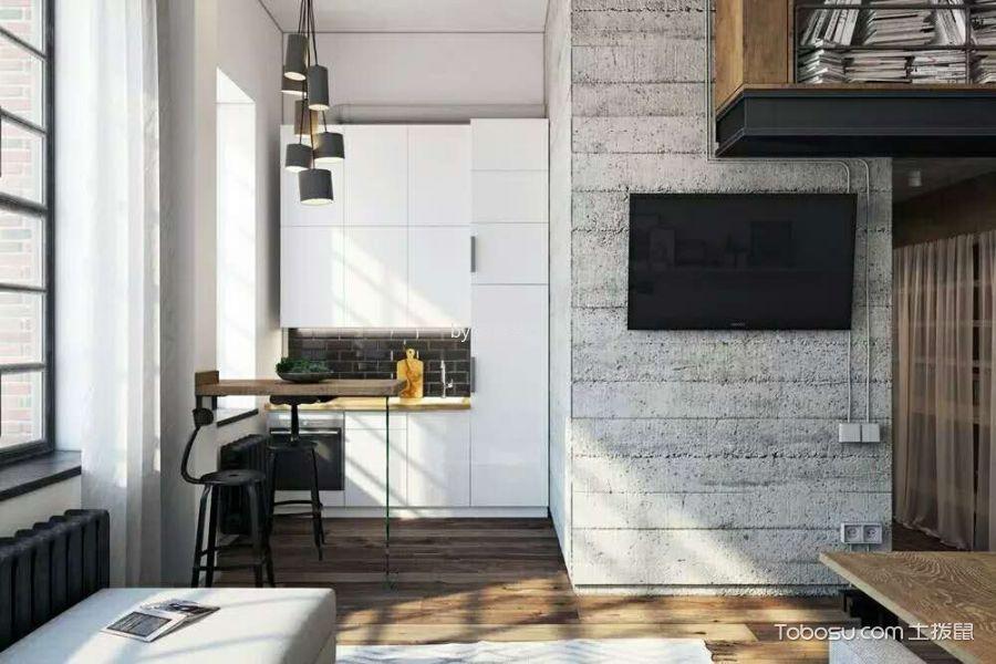 厨房 吧台_北京某小区后现代小复式家居装修效果图
