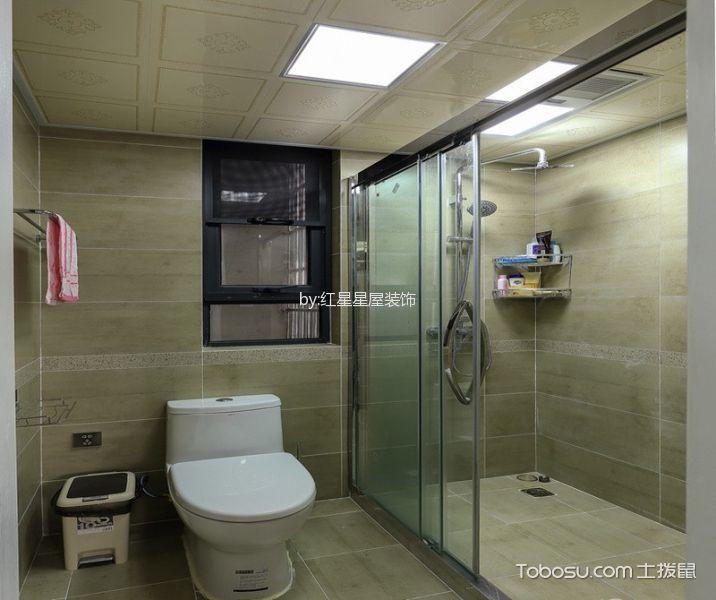 卫生间白色吊顶美式风格装修设计图片