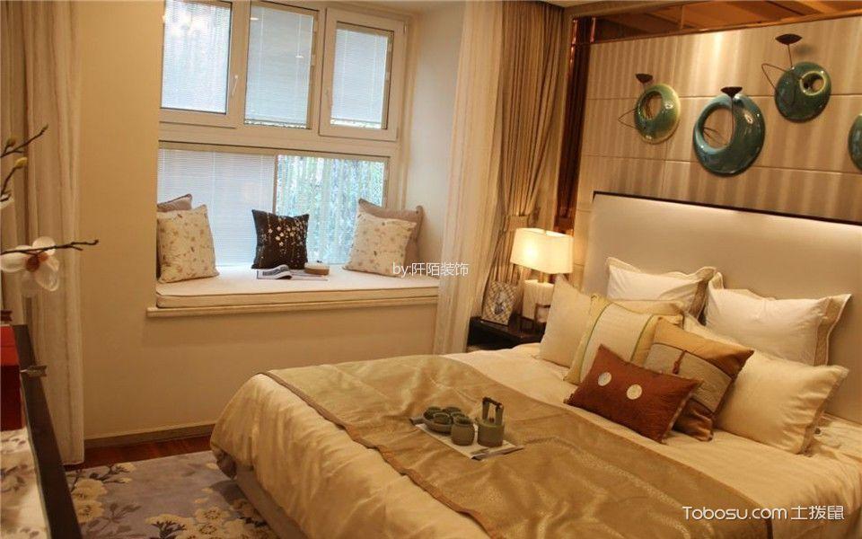 卧室白色飘窗现代风格装修图片