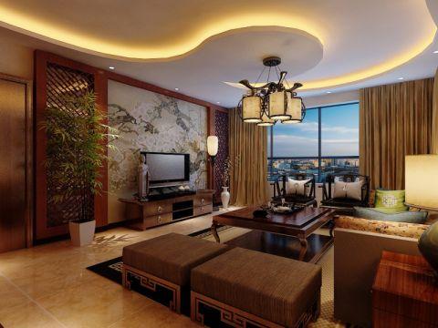 圣湖观澜国际二居室中式风格装修效果图
