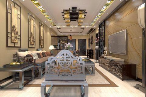 新中式风格家居大户型装修设计图