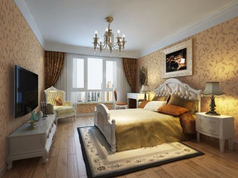 2019现代欧式100平米图片 2019现代欧式二居室装修设计