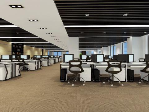 简中式风格办公楼装修效果图