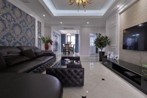 天鹅湖130平三室二厅二卫简欧风格实景图