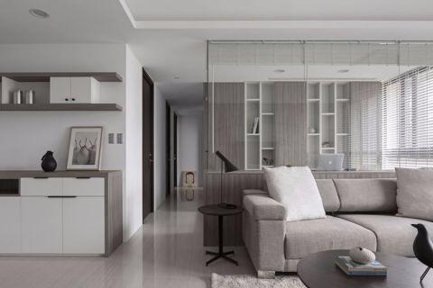 2020简约90平米效果图 2020简约三居室装修设计图片
