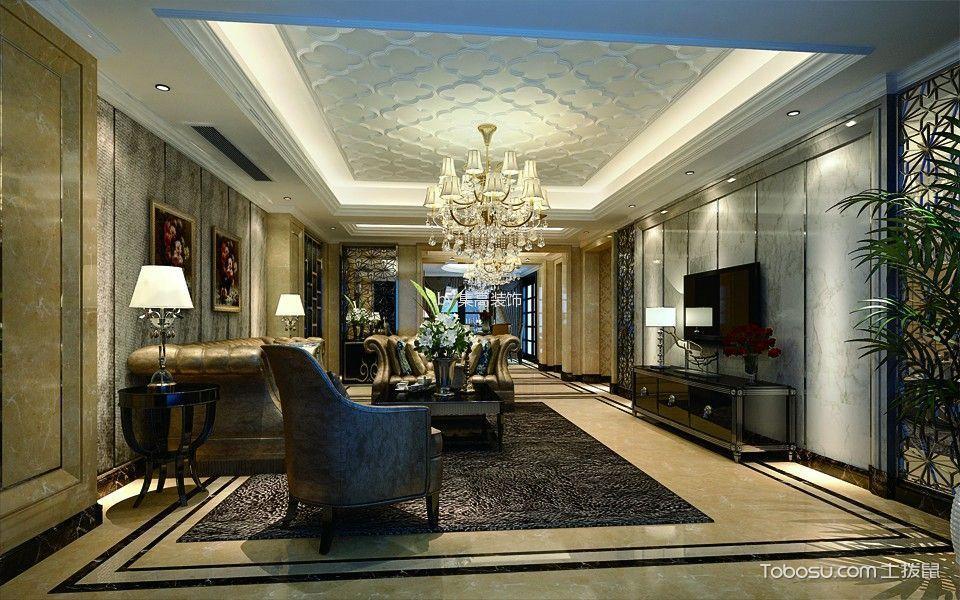 客厅白色灯具新古典风格效果图