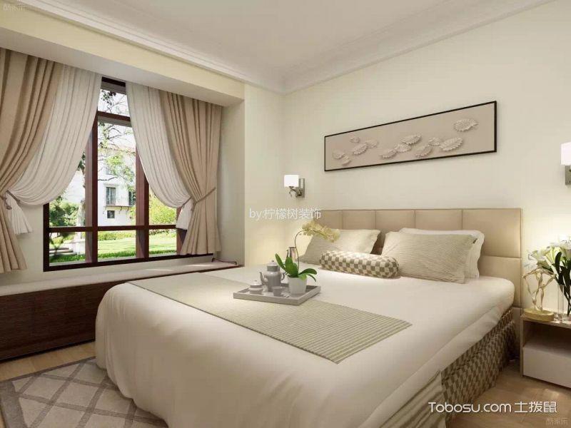 卧室米色飘窗北欧风格装饰设计图片
