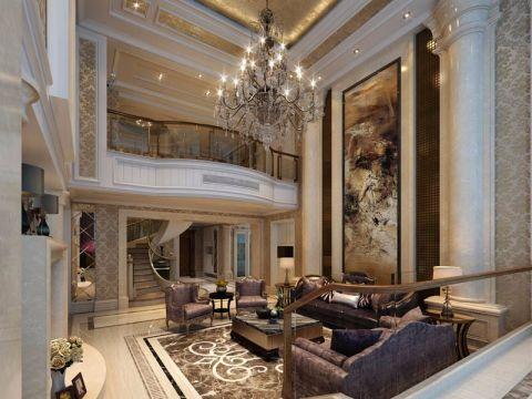 新景国际外滩楼王现代欧式风格复式装修效果图