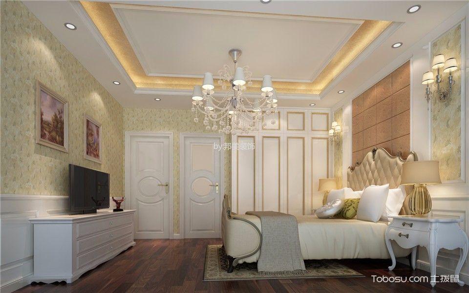 卧室白色电视柜欧式风格装修效果图