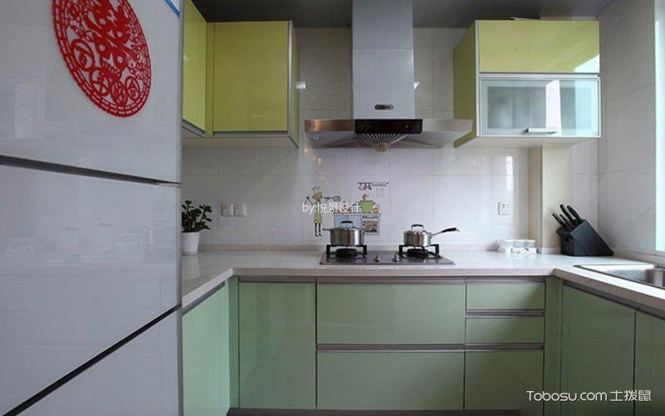 厨房白色吊顶简约风格装潢设计图片