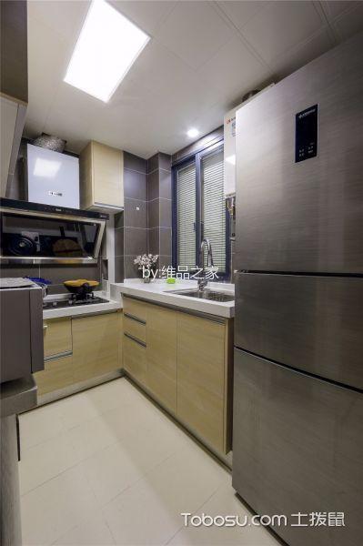厨房黄色橱柜日式风格装饰设计图片
