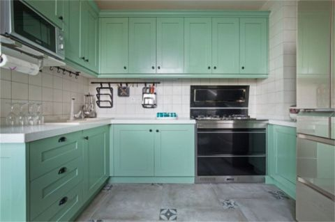 厨房美式风格装饰效果图