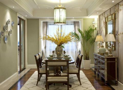 客厅吊顶现代中式风格装饰图片