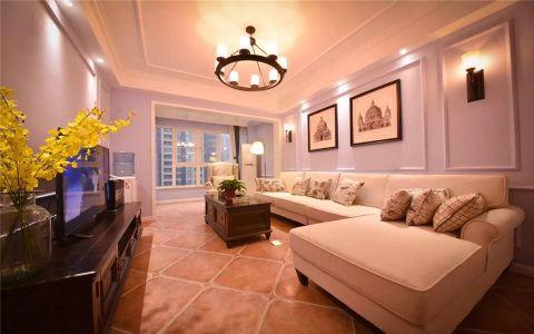 现代美式三居两厅装修设计效果图