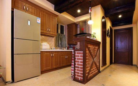 厨房吊顶田园风格装修图片