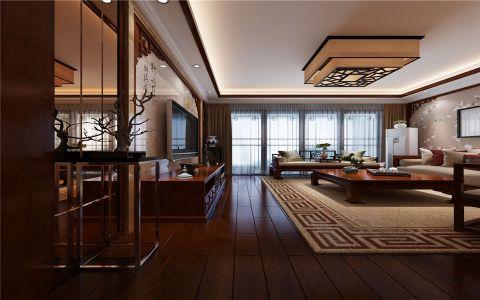 新中式三房两厅装修设计效果图